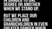 Stand up and be counted or our children will have to do so instead