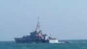 HMS Valiant towing invader boat to shore in the English Channel (picture from Sky News)
