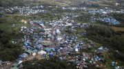 An areal view of the Jungle Camp at Calais