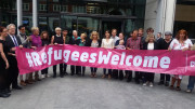 Image shows some of the religious and secular leftists who met in Birmingham recently to campaign for yet more Muslim invaders posing as refugees.