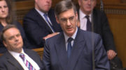 """Jacob Rees-Mogg speaks during Prime Minister's Questions in the House of Commons, London, as David Cameron risked fuelling a fresh wave of anger among his Eurosceptic backbenchers after accusing the prominent Tory of spreading a """"scare story""""."""