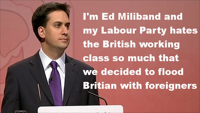 Ed Milliband with text