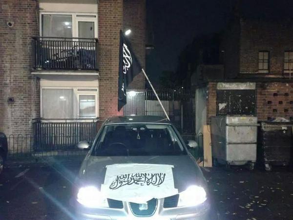 Jihad flag in Whitechapel