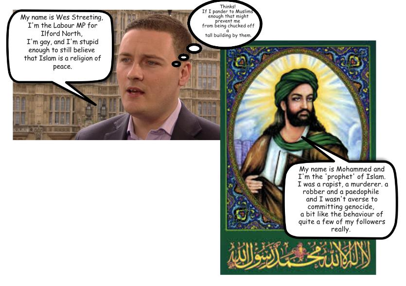 The above image of Mo the Paedo and the fresh faced useful idiot MP Wes Streeting, is replacing one that was 'shopped using an image from the Ilford Recorder. As a matter of courtesy to the Ilford Recorder (for my own reasons), I have removed the offending picture, and replaced it with something even more offensive. If anyone wants to know why the picture of Mo the Paedo and 'Drip-man' have replaced the original image of Wes Streeting and one of the local unwanted mosqueteers, then don't blame me, blame the Ilford Recorder.