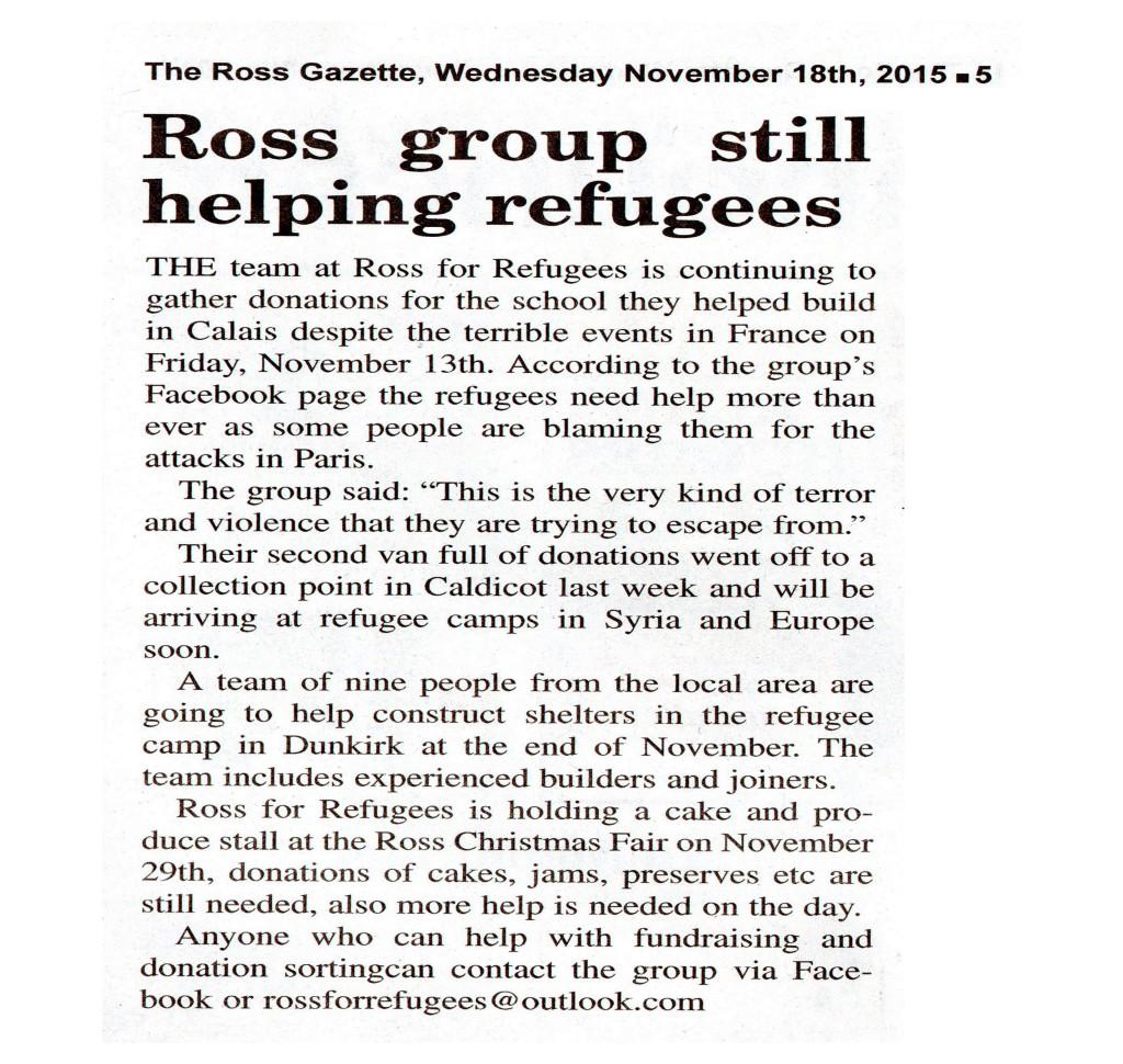 Ross for Refugees image II forpublication