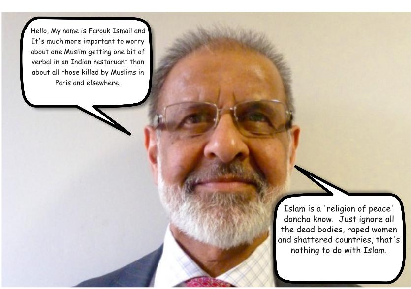 Farouk Ismail of the Federation of Redbridge Muslim Organisations - Question. Would you buy a used car from this man?  (Picture from Ilford Recorder)