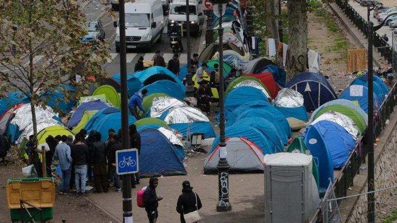 Migrant squatters in Paris